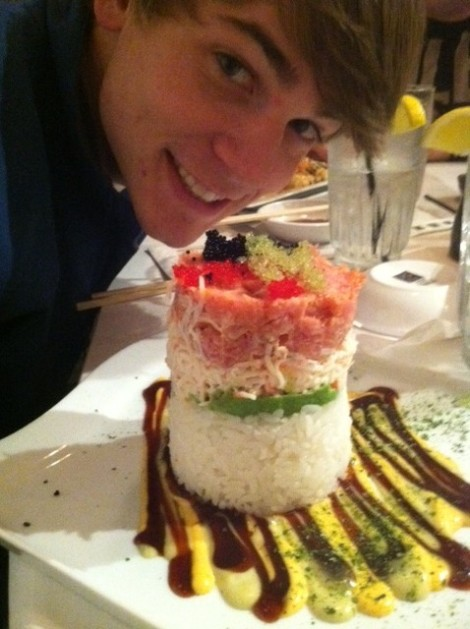 Jared couldn't wait to dig into the Bonsai Tower. Can you blame him?