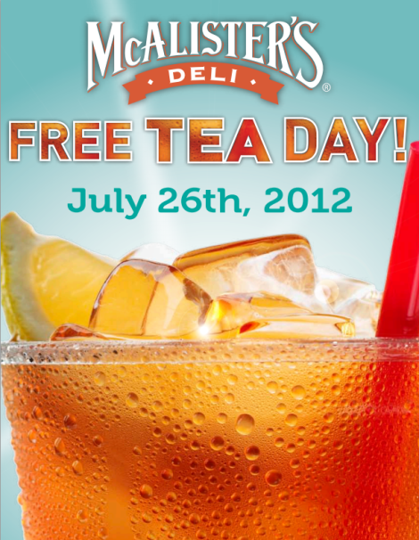 Mcalister's sweet tea day