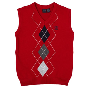 Izod-Boys-Argyle-Sweater-Vest-red
