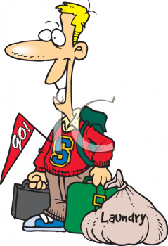 0511-0811-0418-5942_College_Student_Coming_Home_with_His_Laundry_clipart_image